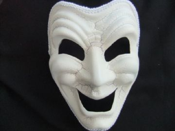 Comedy full face mask (headband or ribbons)